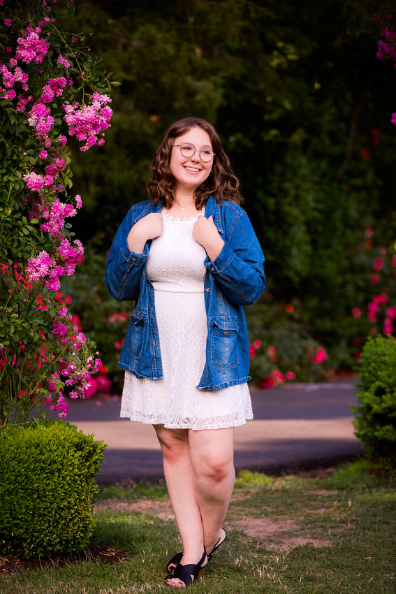 Senior Portraits at the rose garden
